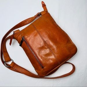 HOBO Orange Tan Vintage Leather Crossbody